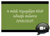 Embedded thumbnail for A mádi Nyugdíjas Klub nőnapi táncos műsora /2018.03.07./